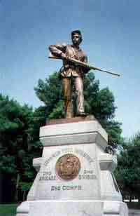 George Washington Salisbury - Gettysburg, Pennsylvania - Monument honoring the 111th New York Infantry Volunteers - Civil War
