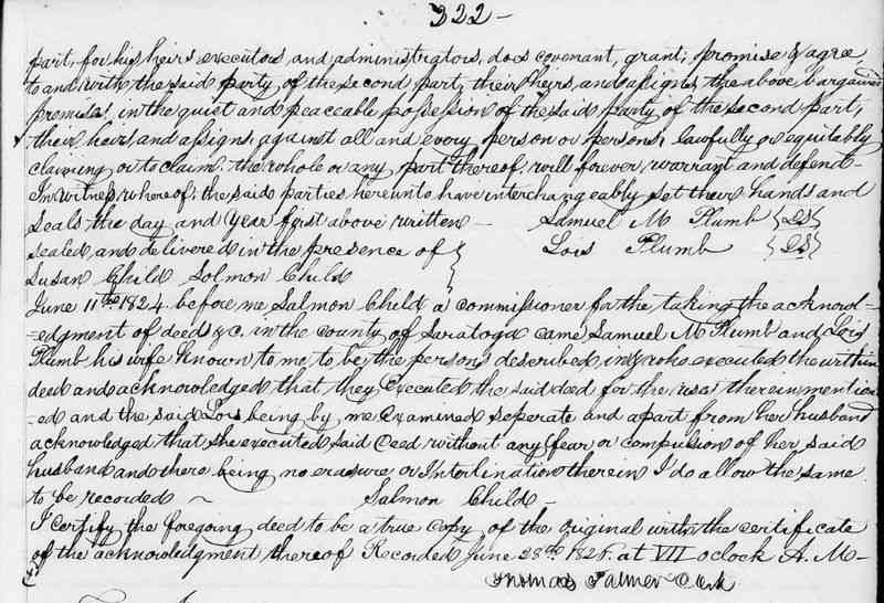 David Salisbury - 1824 Deed (continued)