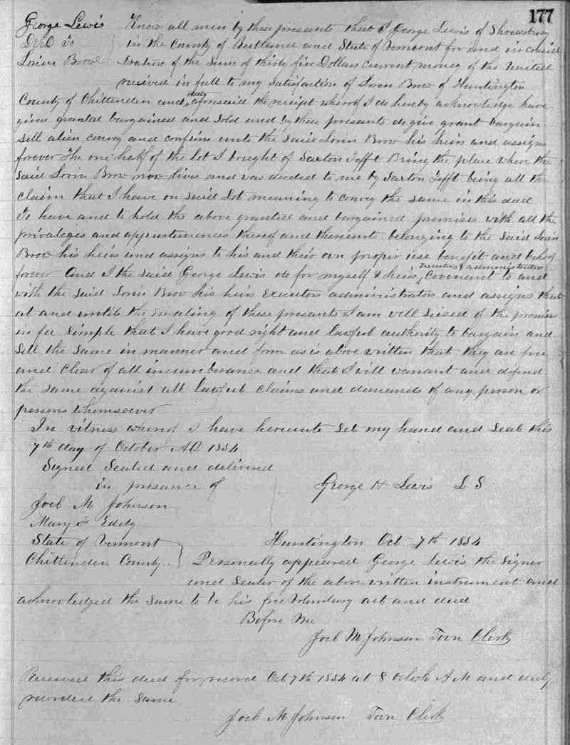 Laurent (Loren) Joseph BROWE (BREAULT) (BRAULT) - Oct 7, 1854