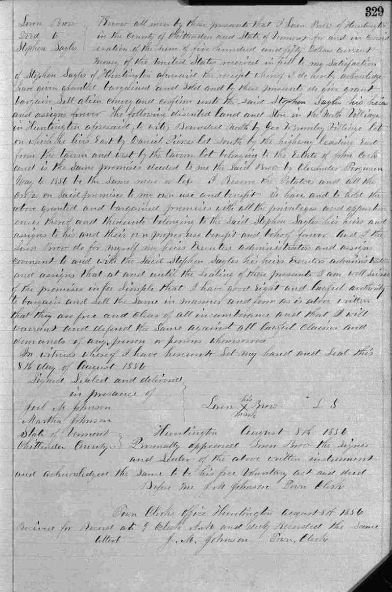 Laurent (Loren) Joseph BROWE (BREAULT) (BRAULT) - Aug 8, 1856