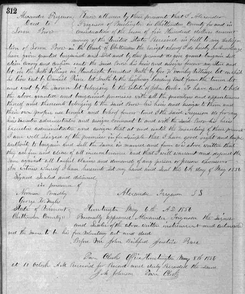 Laurent (Loren) Joseph BROWE (BREAULT) (BRAULT) - May 6, 1856