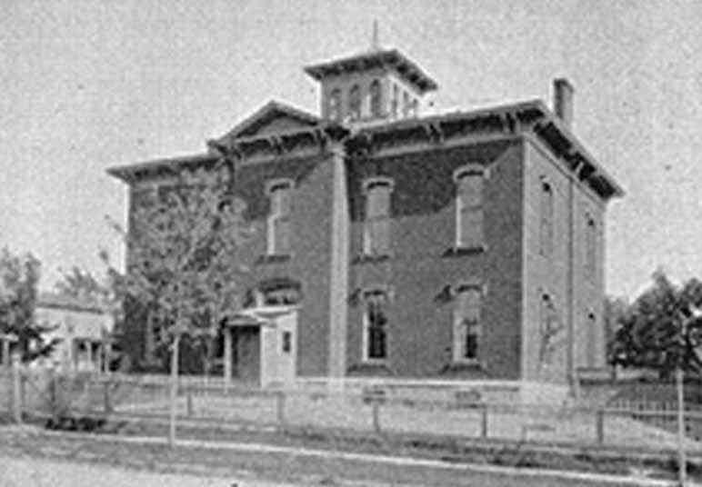 Auburn New York Usa Franklin St School Ny 1895
