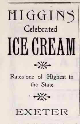Exeter, New Hampshire, USA - 1909 advertisement