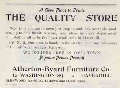 Haverhill, Massachusetts, USA (Ayers Village) - 1909 ad