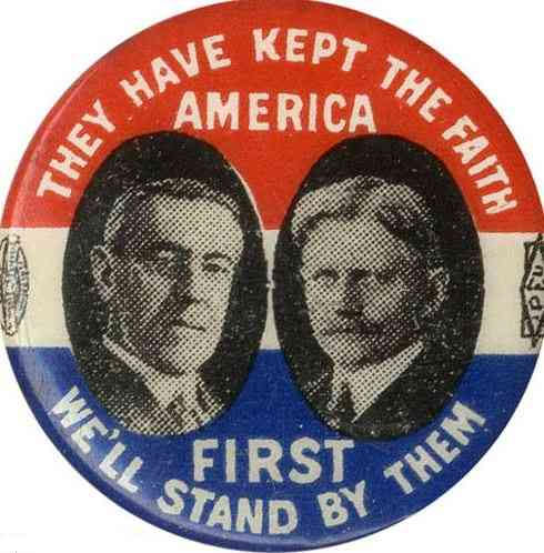 Thomas Woodrow Wilson - 1916 campaign button