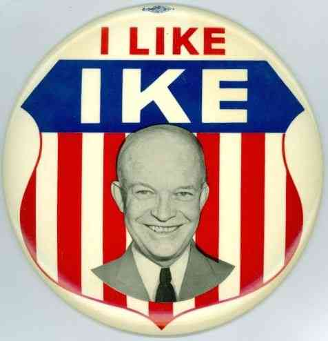 Dwight David Eisenhower - 1952 campaign button