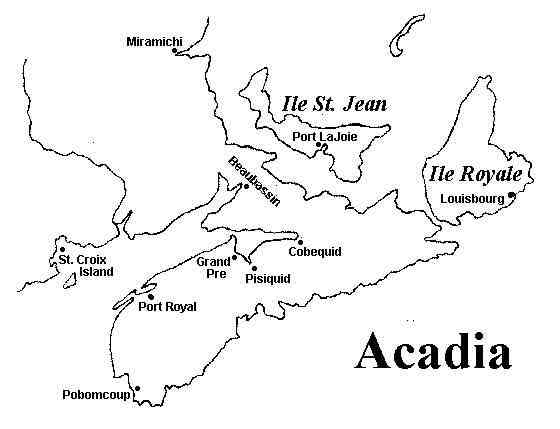 Annapolis Royal, Annapolis, Nova Scotia, Canada / Port Royal, Acadia - Map of Acadia