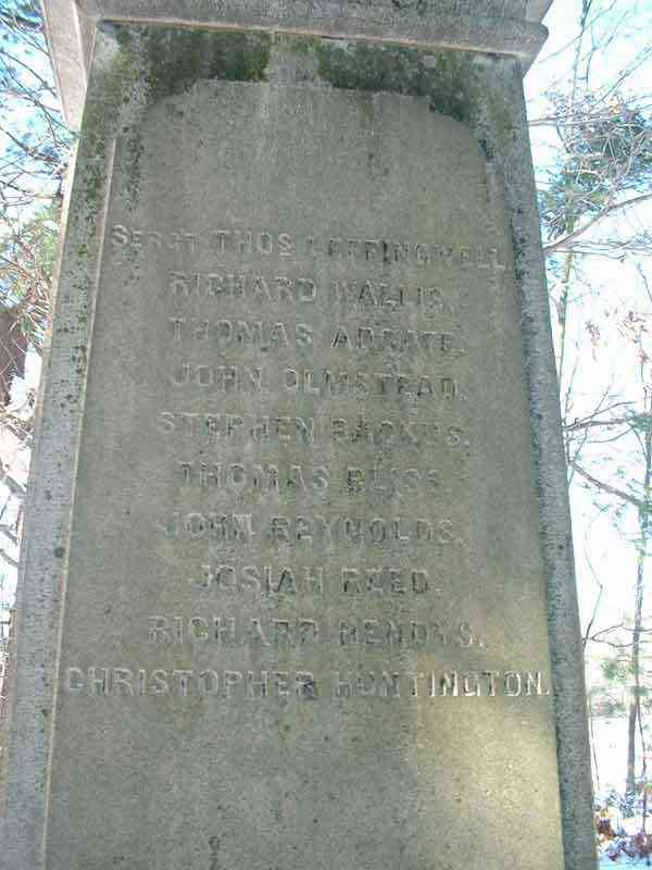Thomas ADGATE - Monument - Founder's Cemetery, Post Gager Burial Ground, Norwich, New London, Connecticut