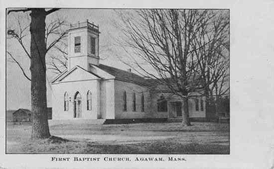 Agawam, Massachusetts, USA - First Baptist Church. Agawam, Mass.