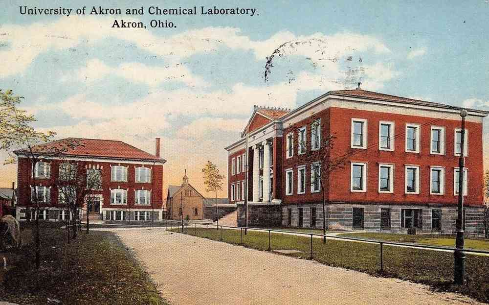 Akron, Ohio, USA - University of Akron and Chemical Laboratory. Akron, Ohio.