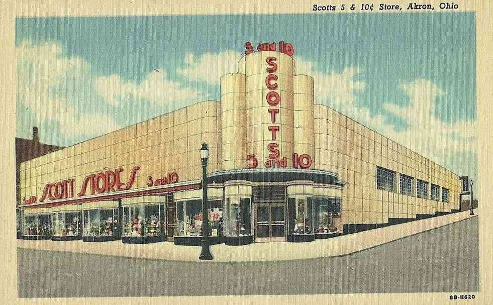 Akron, Ohio, USA - Scotts 5 & 10 cent Store, Akron, Ohio