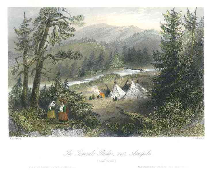 Annapolis Royal, Annapolis, Nova Scotia, Canada / Port Royal, Acadia - The General's Bridge, near Annapolis (Nova Scotia)