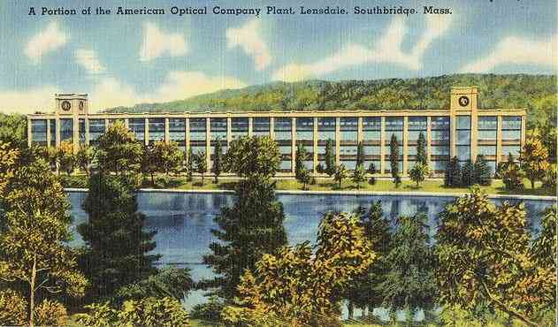 Southbridge, Worcester, Massachusetts, USA - A Portion of the American Optical Company Plant, Lensdale, Southbridge, Mass.