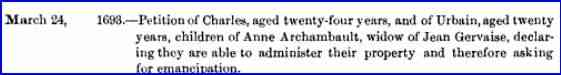 Anne Archambault - 1693