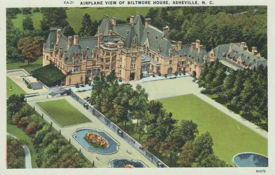 Asheville, North Carolina, USA - Airplane View of Biltmore Hotel, Asheville, N.C.