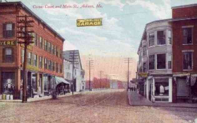 Auburn, Maine, USA - Corner Court and Main Street