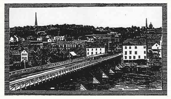 Auburn, Maine, USA - Bridge Between Lewiston and Auburn