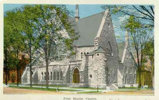 Auburn, New York, USA - First Baptist Church, Auburn, N. Y.