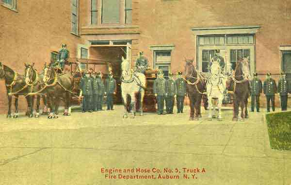 Auburn, New York, USA - Engine and Hose Co. No. 5, Truck A, Fire Department, Auburn, N.Y.