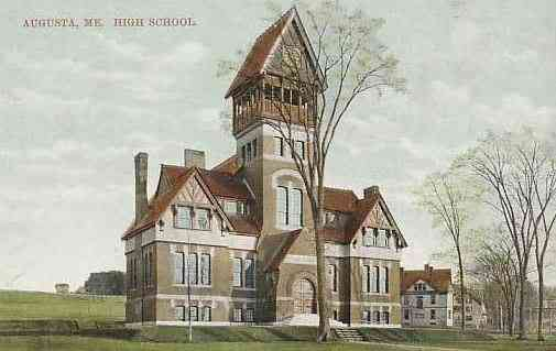 Augusta, Maine, USA - High School (1909)