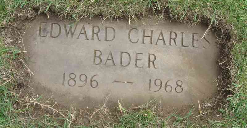 Edward Charles Bader - Grave - Brookside Cemetery, Easthampton, Massachusetts