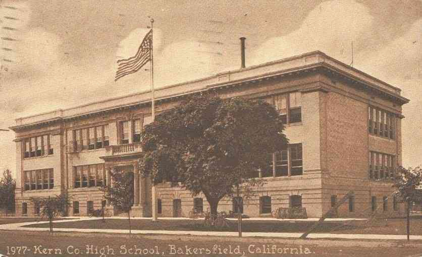 Bakersfield, California, USA - Kern Co. High School, Bakersfield, California. (1918)