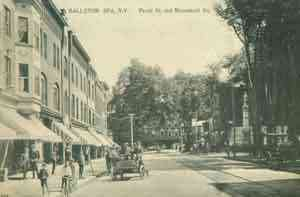 Ballston Spa, New York, USA (Ballston) (Milton) - Ballston Spa, N.Y.  Front St. and Monument Sq.