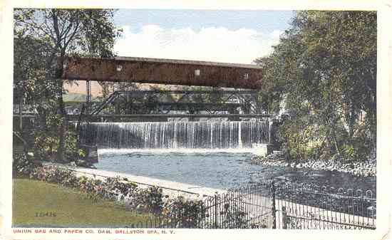Ballston Spa, New York, USA (Ballston) (Milton) - Union Bag and Paper Co. Dam. Ballston Spa, N. Y.