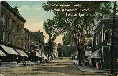 Ballston Spa, New York, USA (Ballston) (Milton) - Milton Avenue South, from Washington Street, Ballston Spa, N.Y.