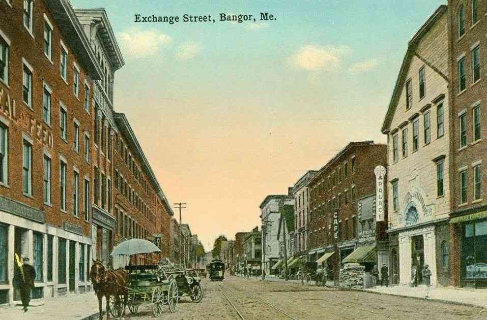Bangor, Maine, USA - Exchange Street
