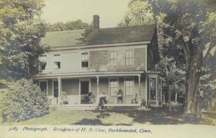 Barkhamsted, Connecticut, USA - Residence of H. B. Case, Barkhamsted, Conn.