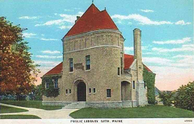 Bath, Maine, USA   Public Library, Bath, Maine