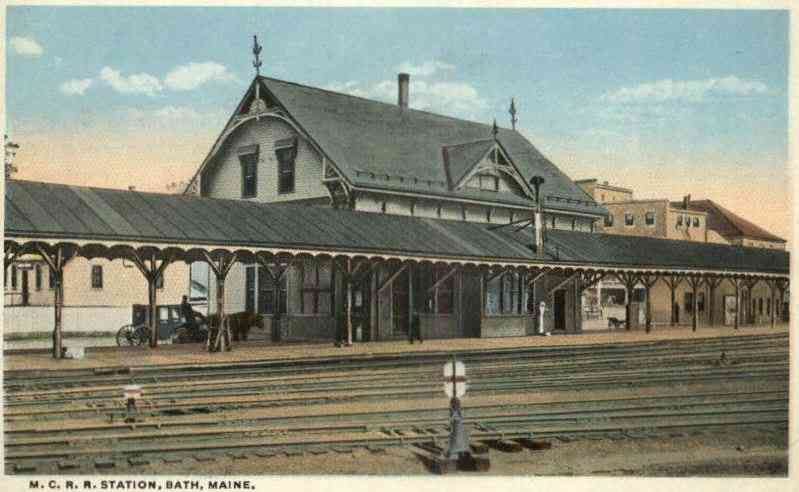 Bath, Maine, USA - M.C.R.R. Station, Bath, Maine.