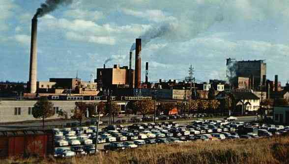Bathurst, New Brunswick, Canada - Pulp and Paper Mill