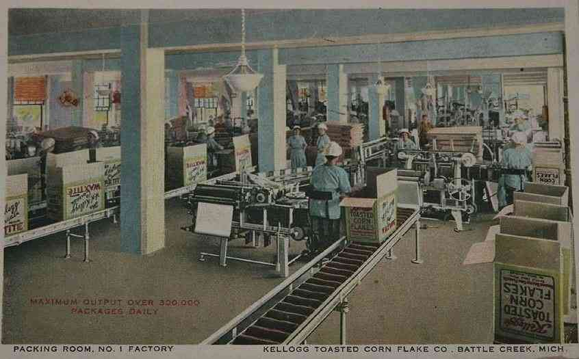Battle Creek, Michigan, USA - Packing Room, No. 1 Factory