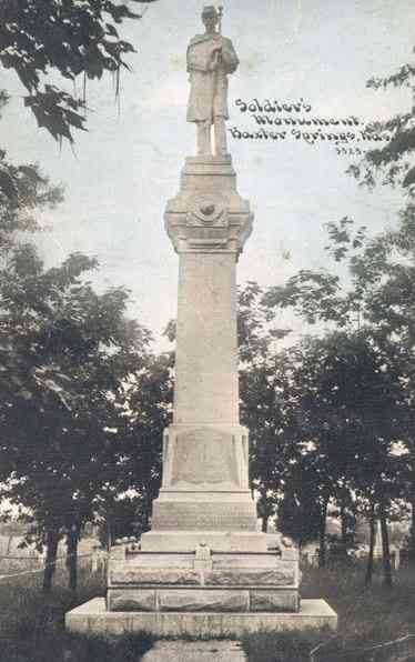 Baxter Springs, Kansas, USA - Soldier's Monument