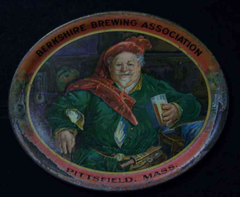 Pittsfield, Massachusetts, USA (Coltsville) - Berkshire Brewing Association  (352 Columbus Avenue, Pittsfield, MA 1891-1918) tray. Thanks to Scott Pepoon for the photo.