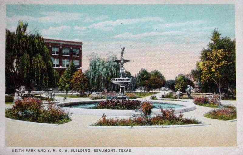 Beaumont, Texas, USA - Keith Park and Y.M.C.A. Building, Beaumont, Texas