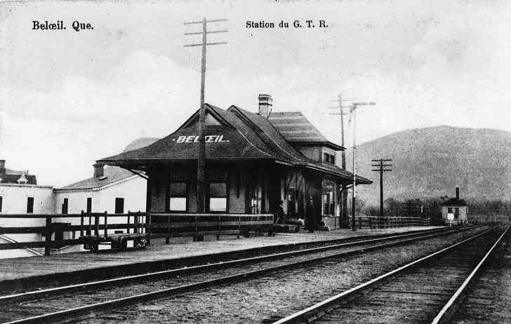 Beloeil, Verchères, Québec, Canada (Saint-Mathieu-de-Beloeil) - Station du G.T.R. (Grand Trunk Railroad)