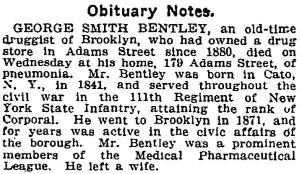 George Smith BENTLEY - Obituary