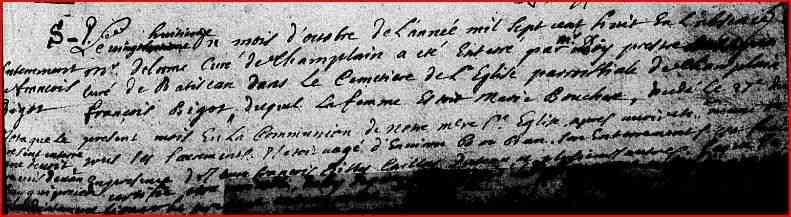 Francoise Bigot 1631-1706 - Ancestry