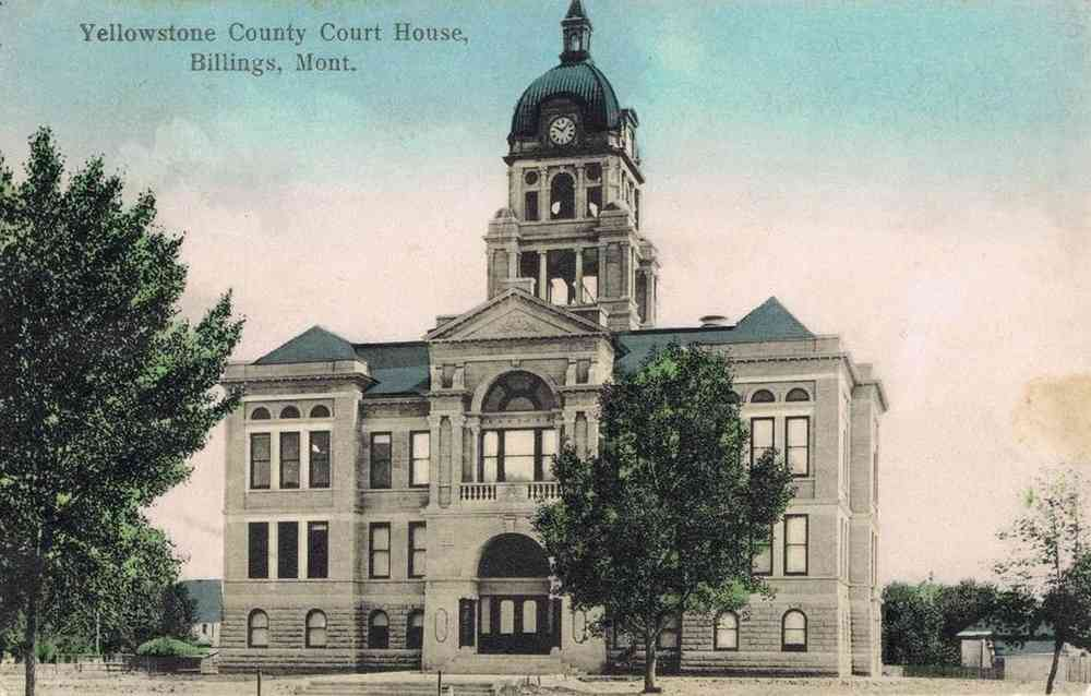 Billings, Montana, USA - Yellowstone County Court House, Billings, Mont.