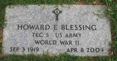 Howard Edward BLESSING - Grave - Gethsemane Cemetery, Meriden, New Haven County, Connecticut, USA
