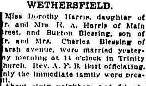 Burton Judd Blessing - The Hartford Courant