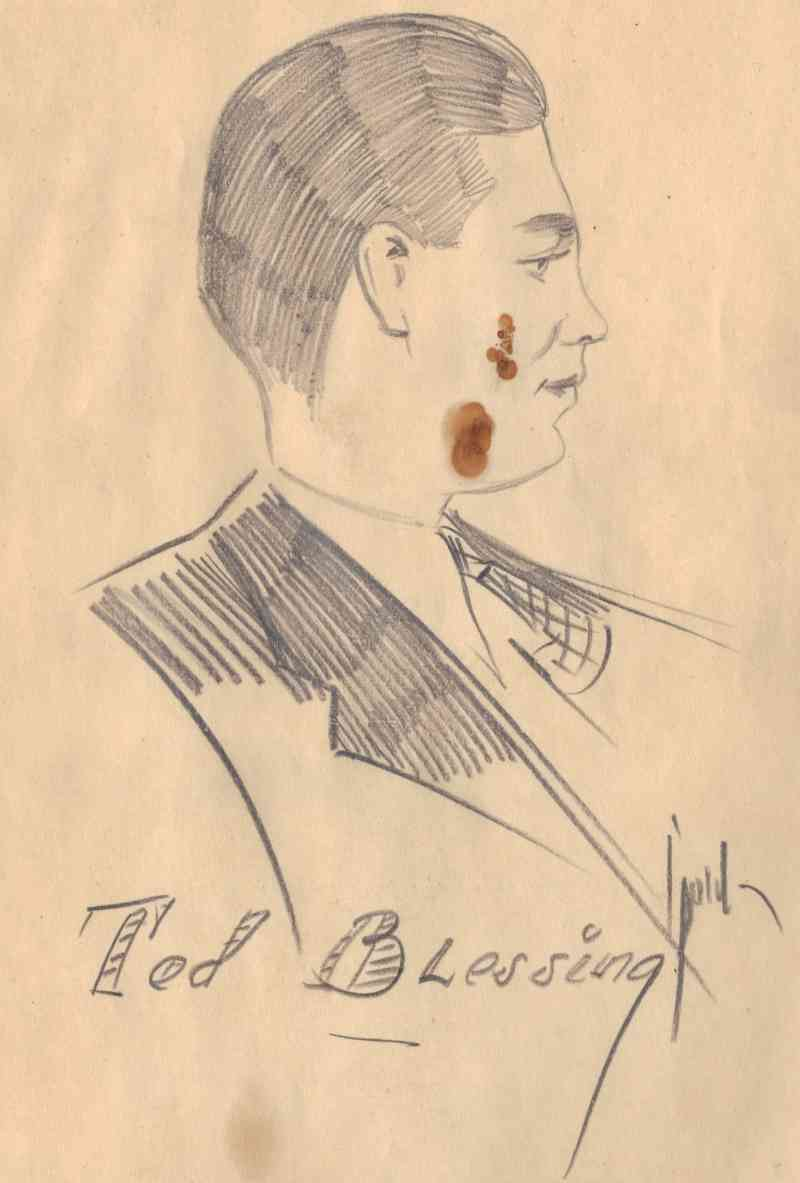 Theodore Roosevelt BLESSING - Theodore R. Blessing sketch