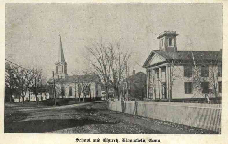 Bloomfield, Connecticut, USA - School and Church, Bloomfield, Conn.