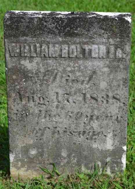 William BOLTON - Grave