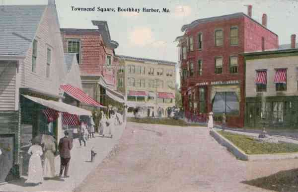 Boothbay, Maine, USA (Boothbay Harbor) - Townsend Square, Boothbay Harbor, Maine