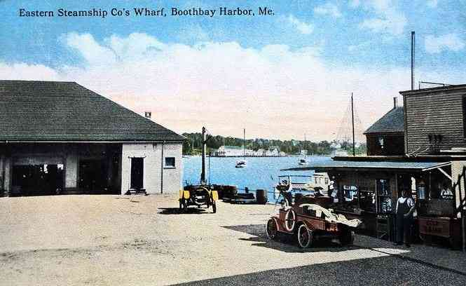 Boothbay, Maine, USA (Boothbay Harbor) - Eastern Steamship Co's Wharf, Boothbay Harbor, Me.