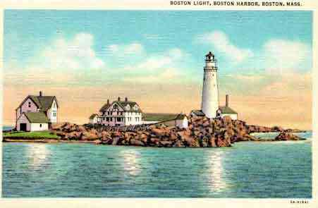 Boston, Massachusetts, USA - Boston Light, Boston Harbor, Boston, Mass.